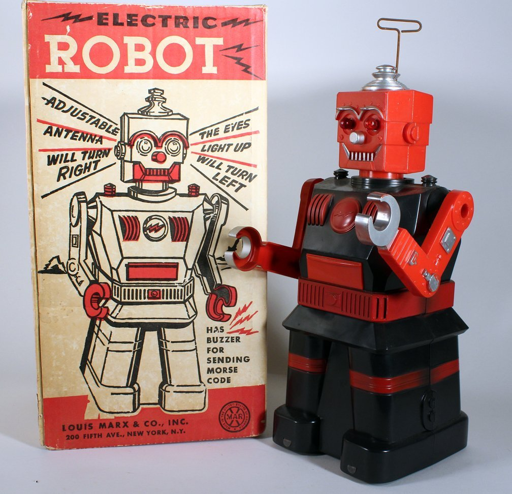 Louis Marx Electric Robot In Box - 2