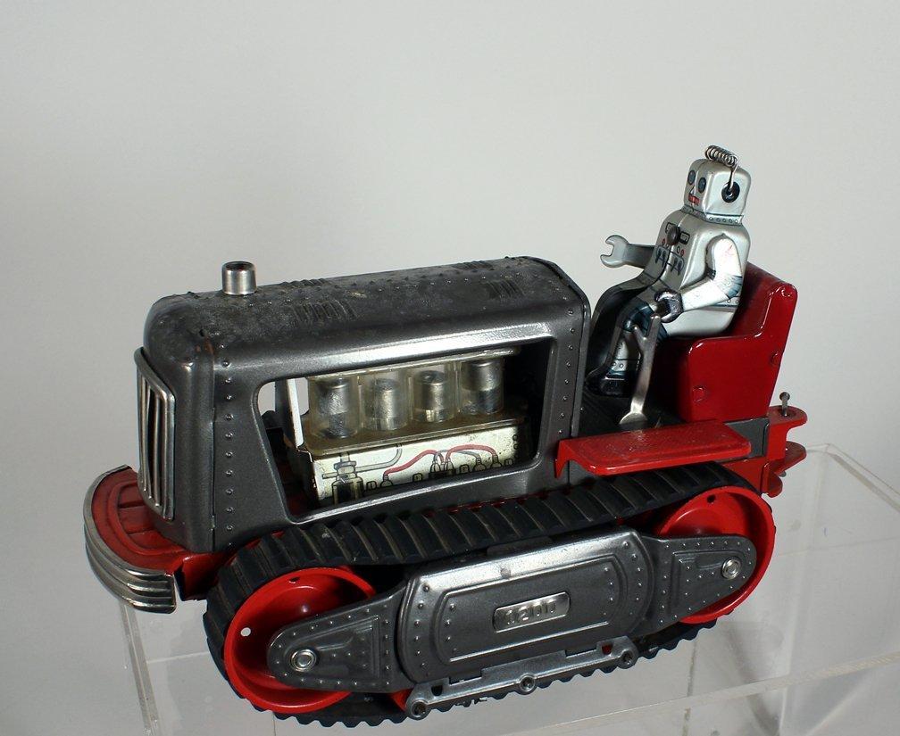 Japan Tin Showa Robot on Tractor