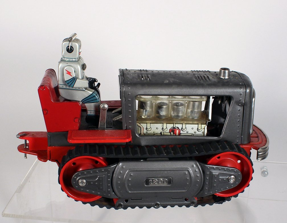 Japan Tin Showa Robot on Tractor - 3