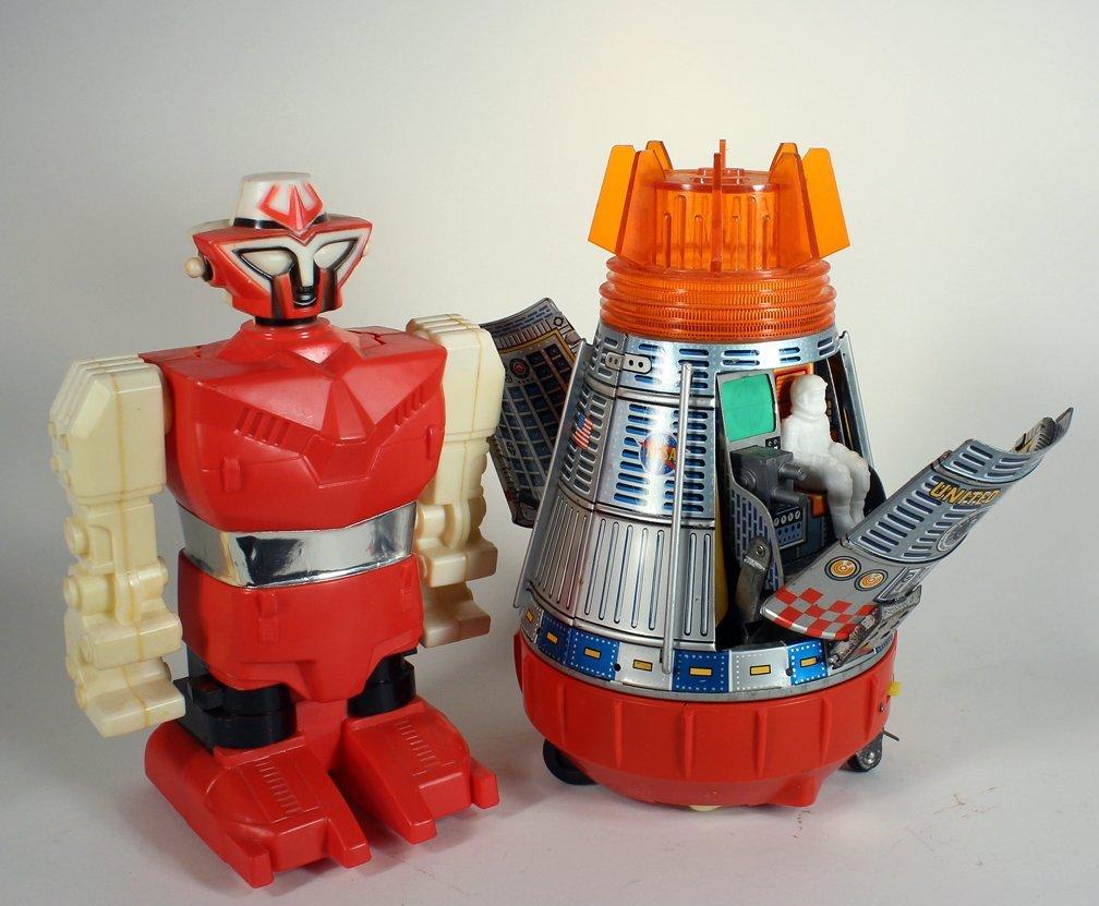 SH Japan Tin Space Capsule & Astronaut & Robot - 2