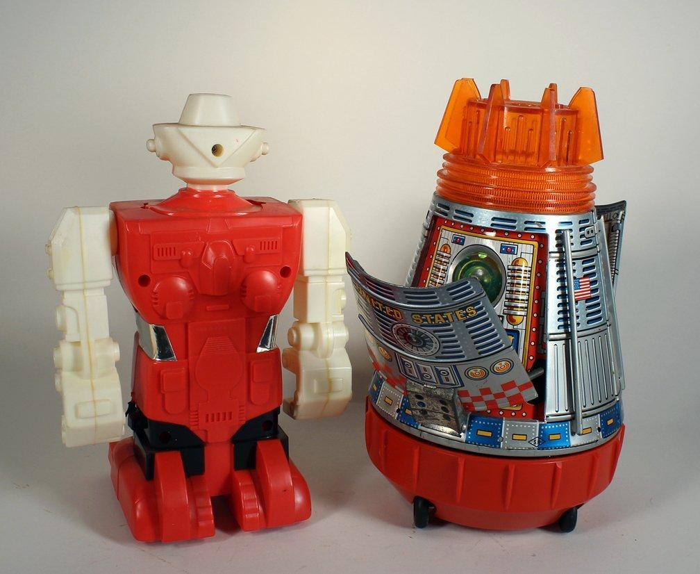 SH Japan Tin Space Capsule & Astronaut & Robot - 3