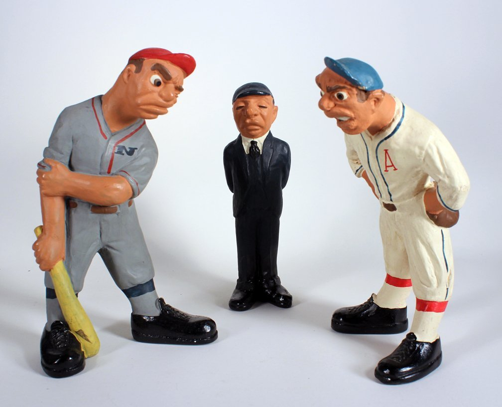 Rittgers Baseball Players and Umpire