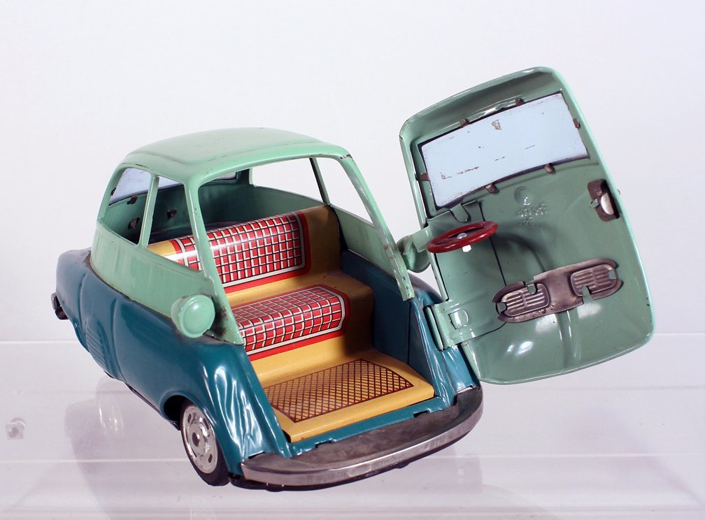 Bandai Japan Tin Isetta Friction Car - 2