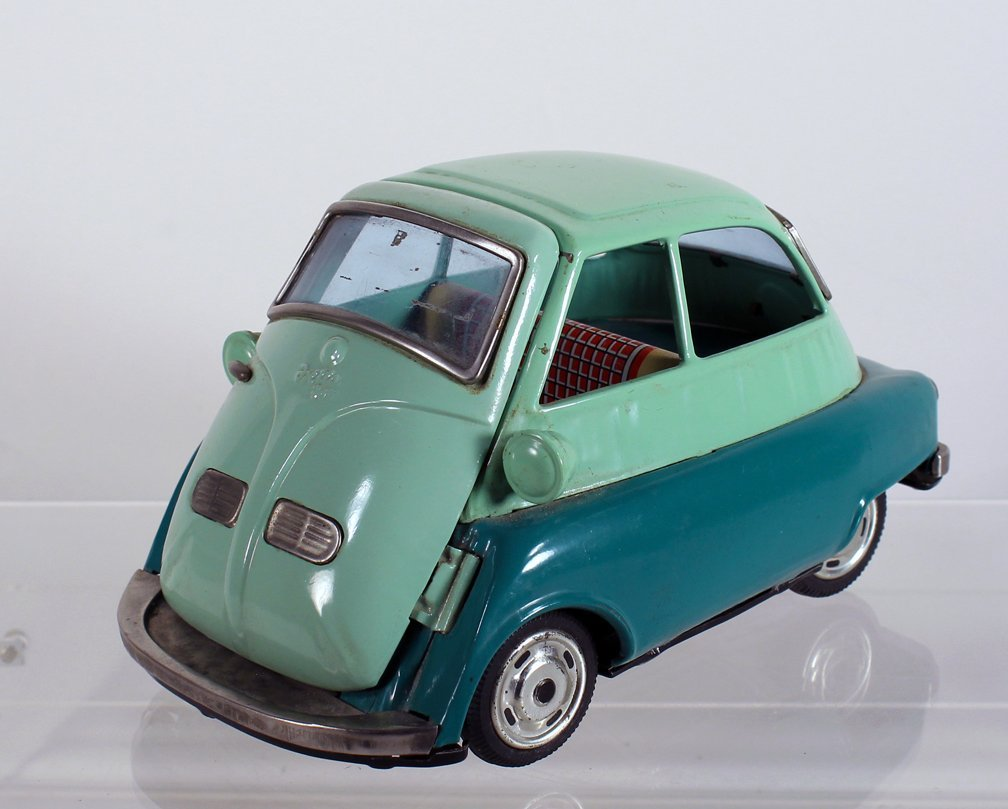 Bandai Japan Tin Isetta Friction Car - 3
