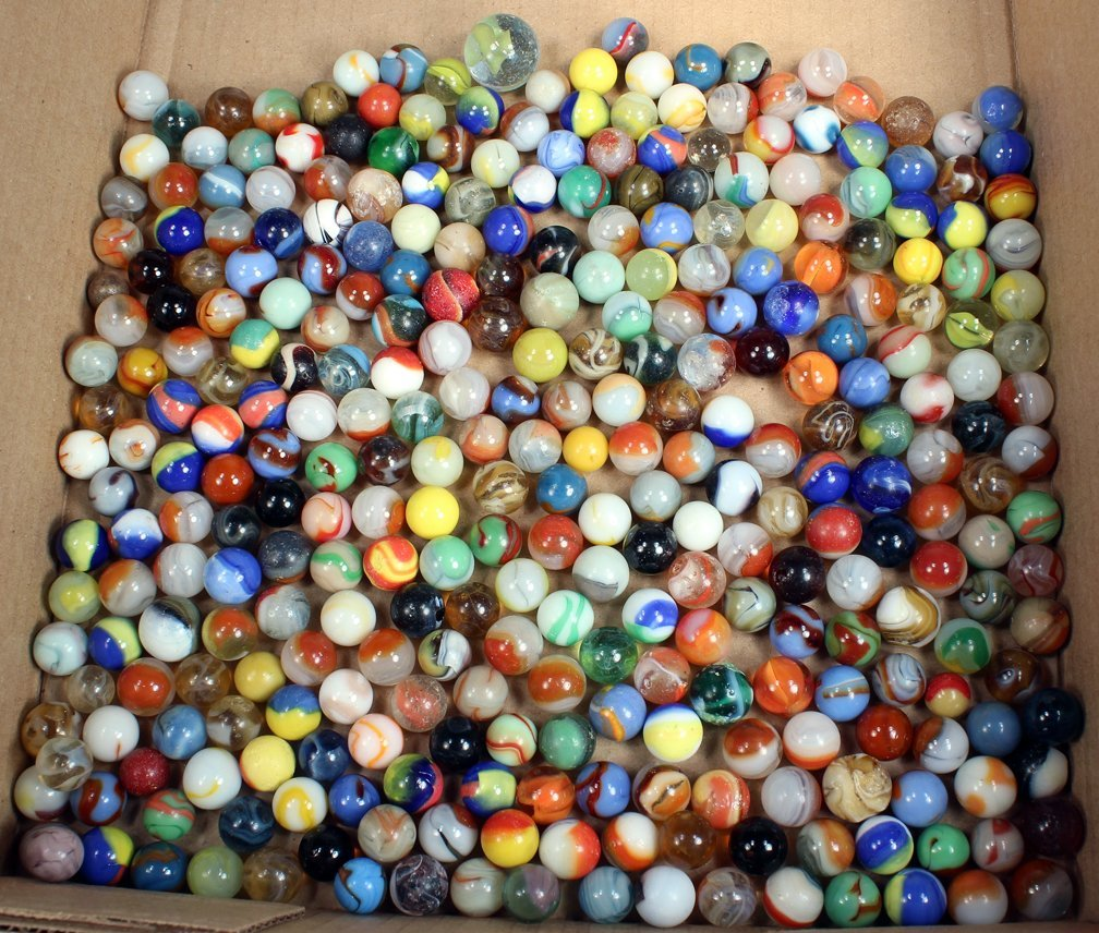 Antique Marble and Shooter Lot Multi-Color