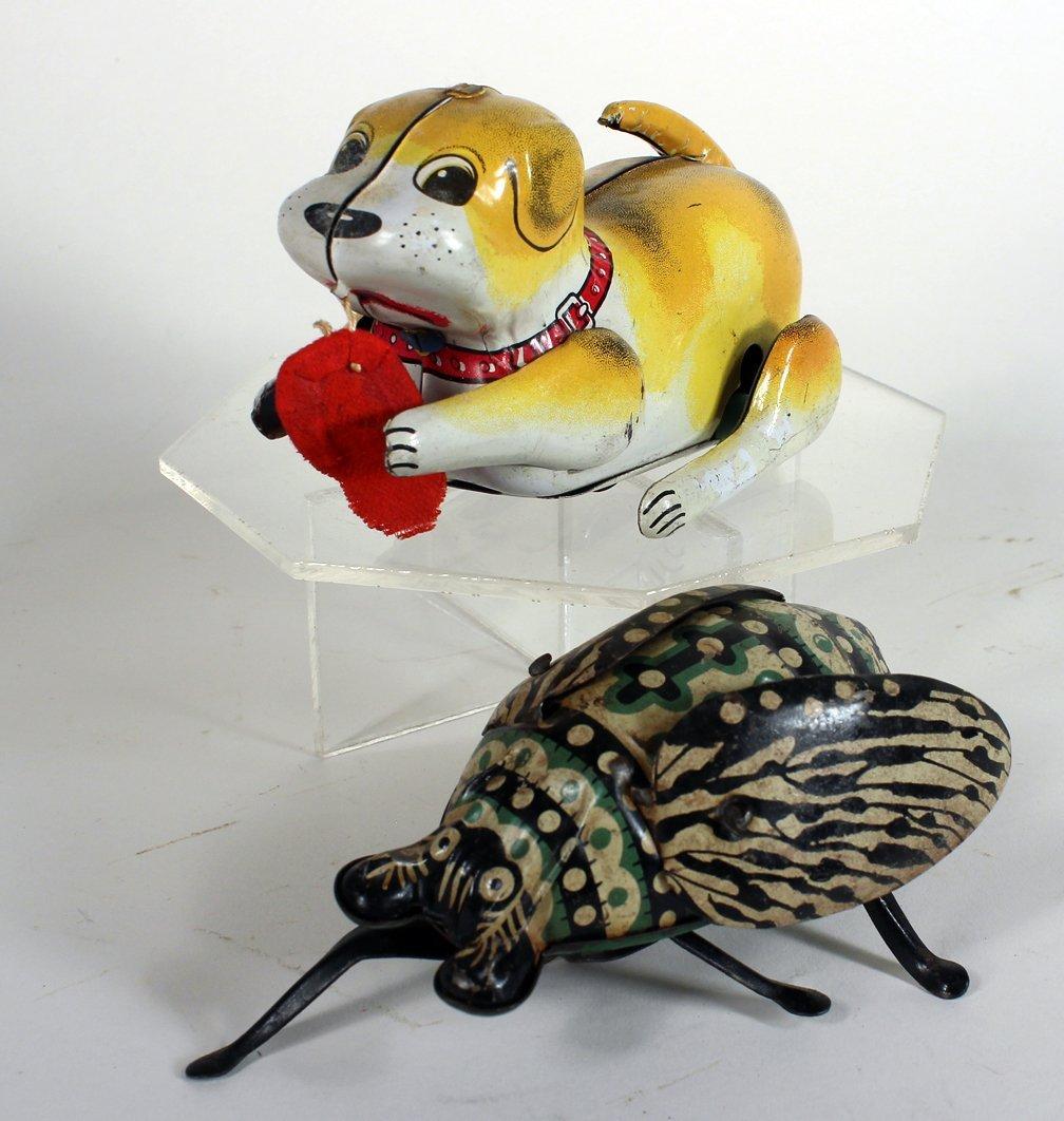 Tin Giant Bug and Japan Tin Puppy