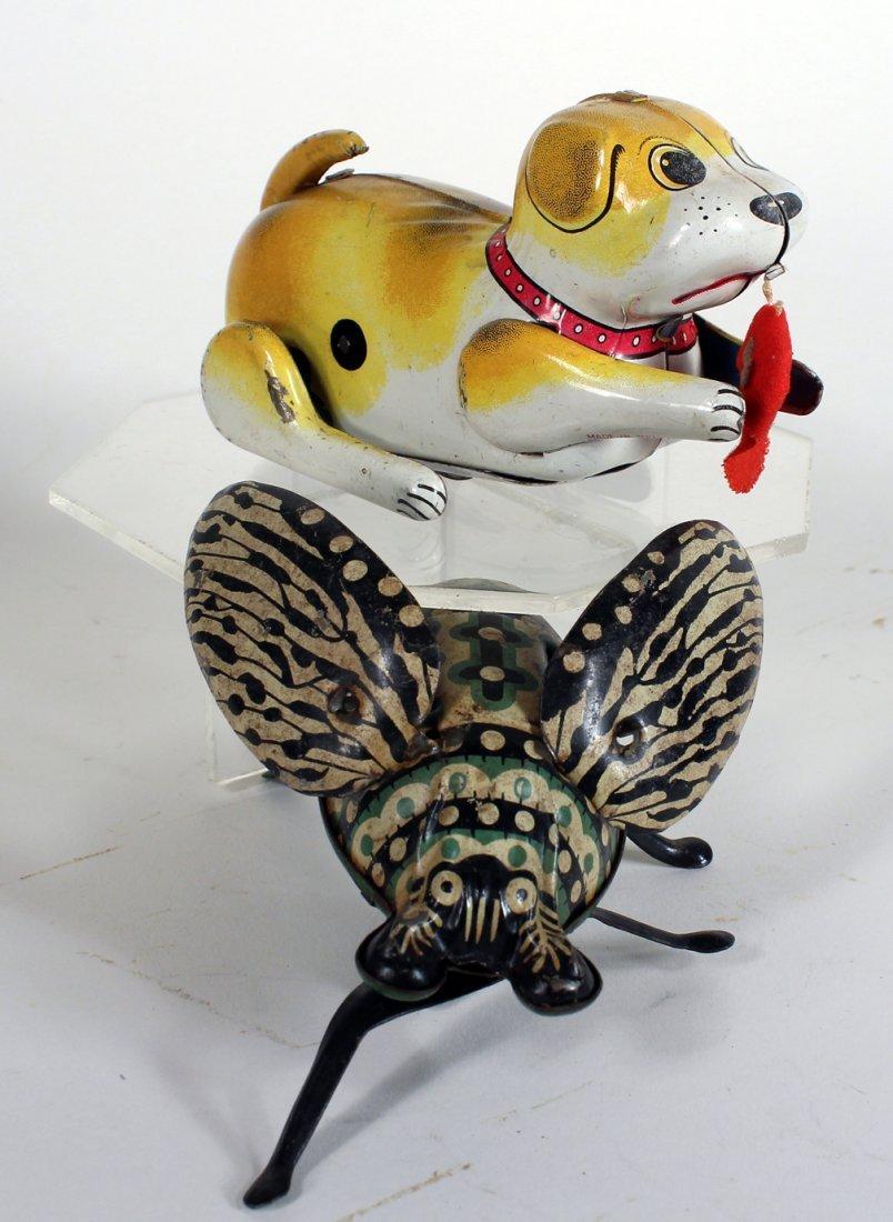 Tin Giant Bug and Japan Tin Puppy - 2