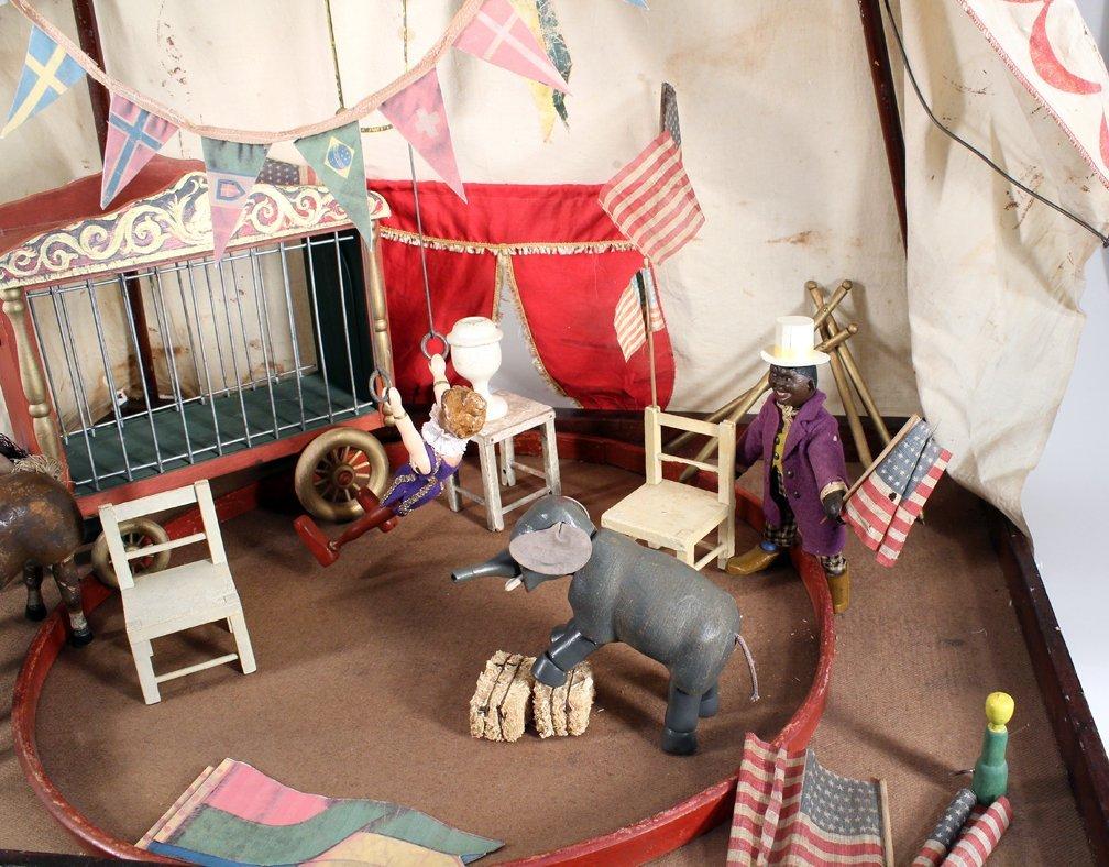 Schoenhut Humpty Dumpty Circus Tent & Figures - 2