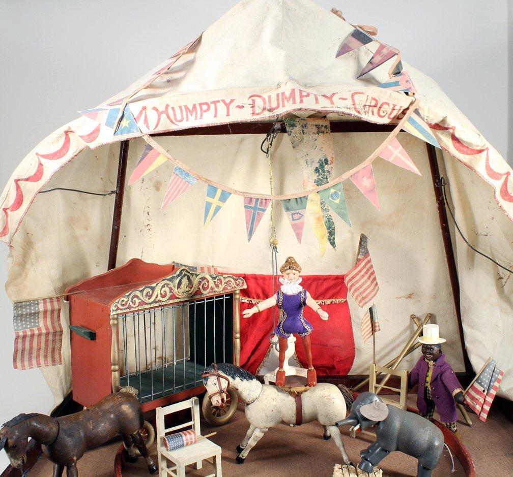 Schoenhut Humpty Dumpty Circus Tent & Figures - 3
