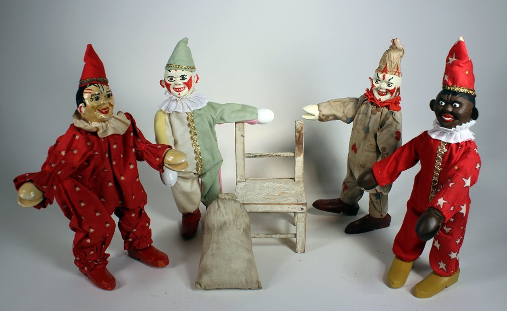 Schoenhut Humpty Dumpty Circus Clowns
