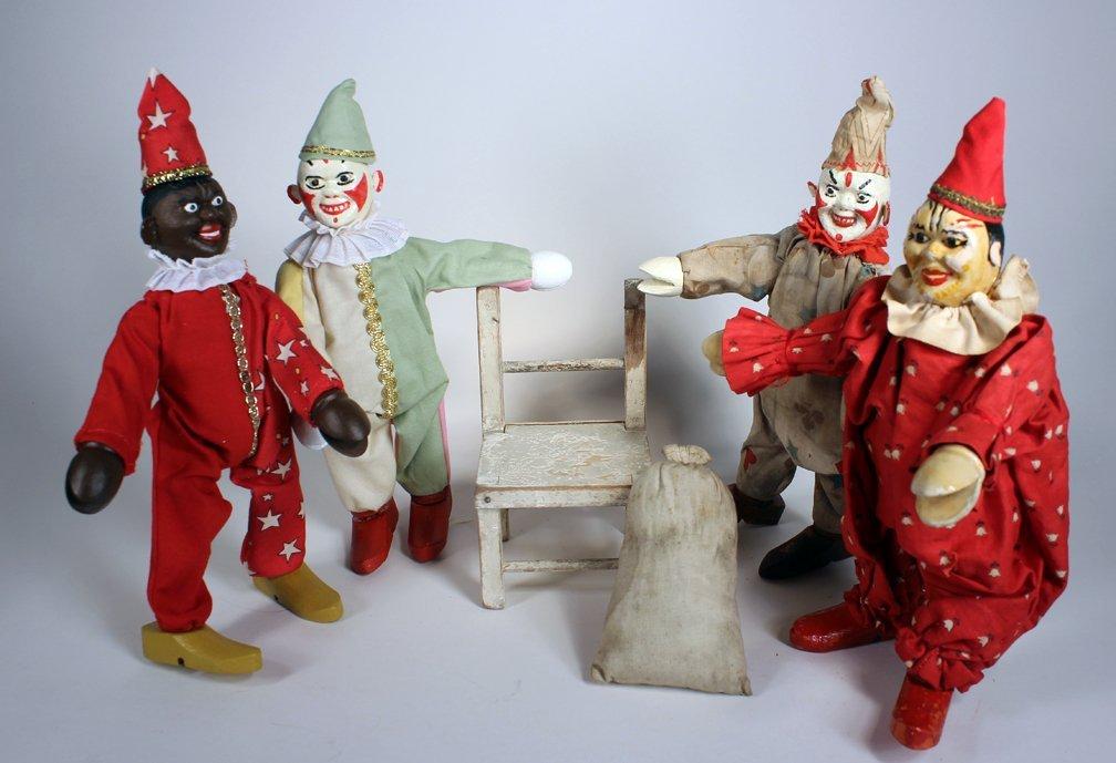 Schoenhut Humpty Dumpty Circus Clowns - 4