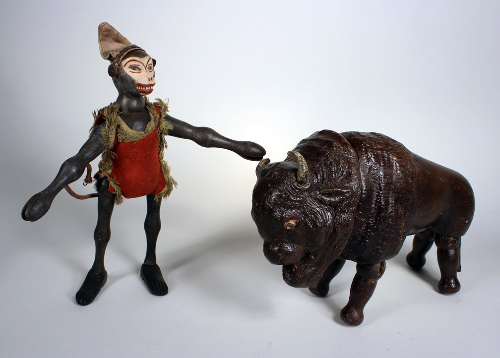 Schoenhut Humpty Dumpty Circus Monkey & Buffalo