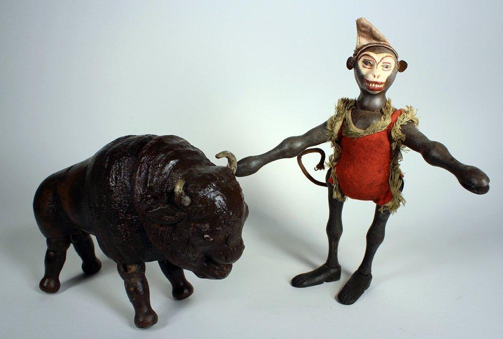 Schoenhut Humpty Dumpty Circus Monkey & Buffalo - 2