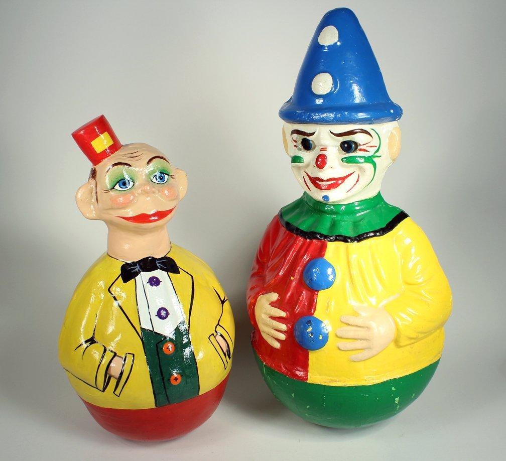 Schoenhut Happy Hooligan and Clown Roly Poly