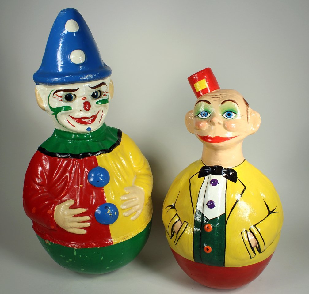 Schoenhut Happy Hooligan and Clown Roly Poly - 2