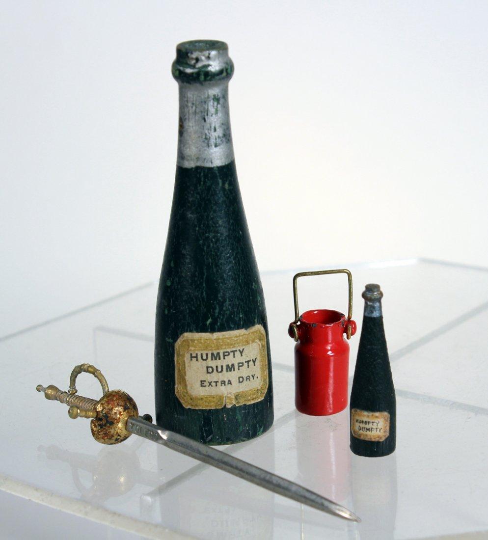Schoenhut Rare Champagne Bottles