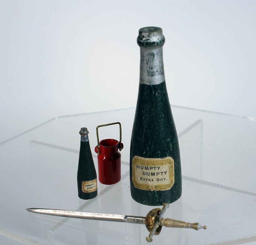 Schoenhut Rare Champagne Bottles - 2