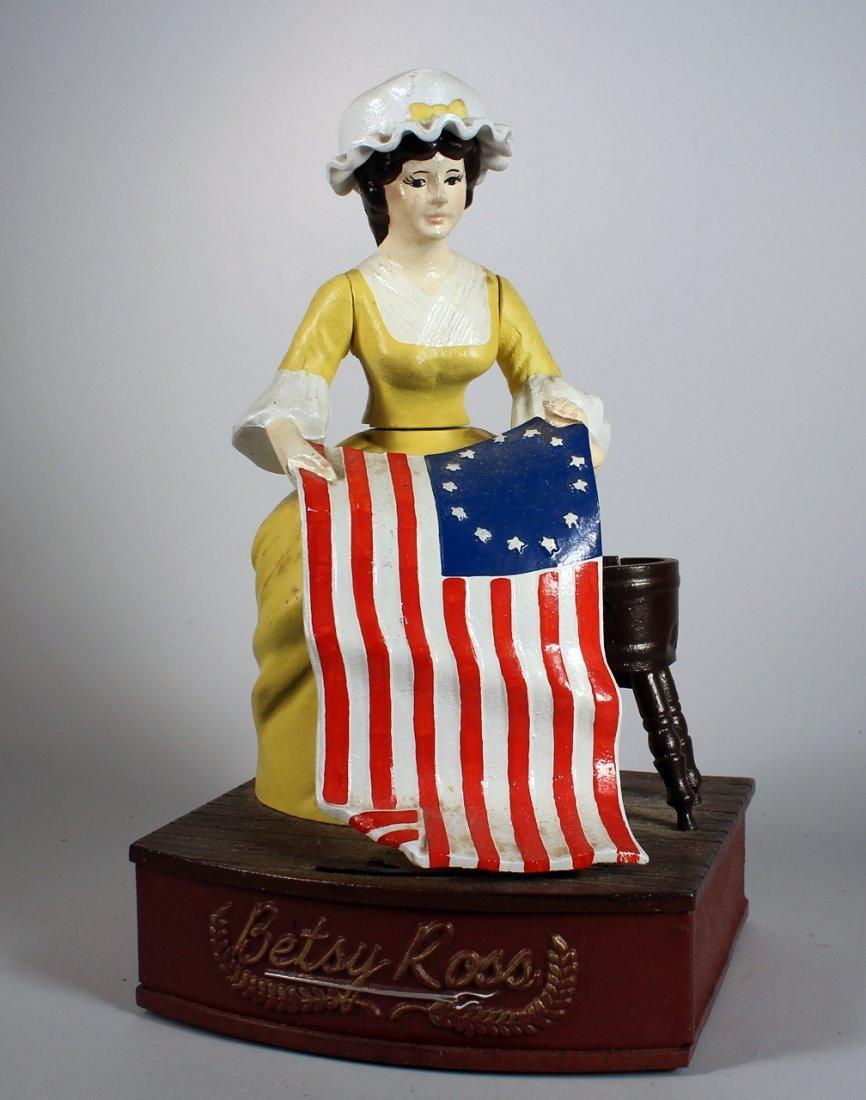 Cast Iron Betsy Ross Bicentennial Bank #331