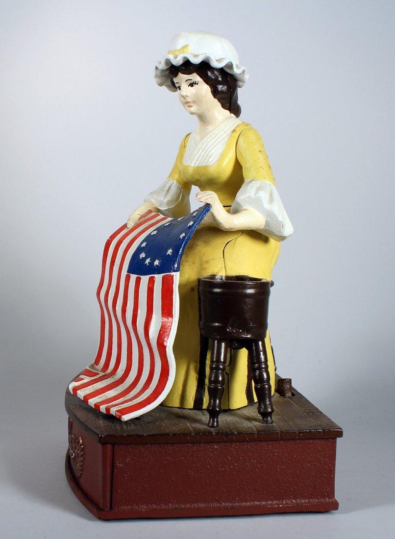 Cast Iron Betsy Ross Bicentennial Bank #331 - 2