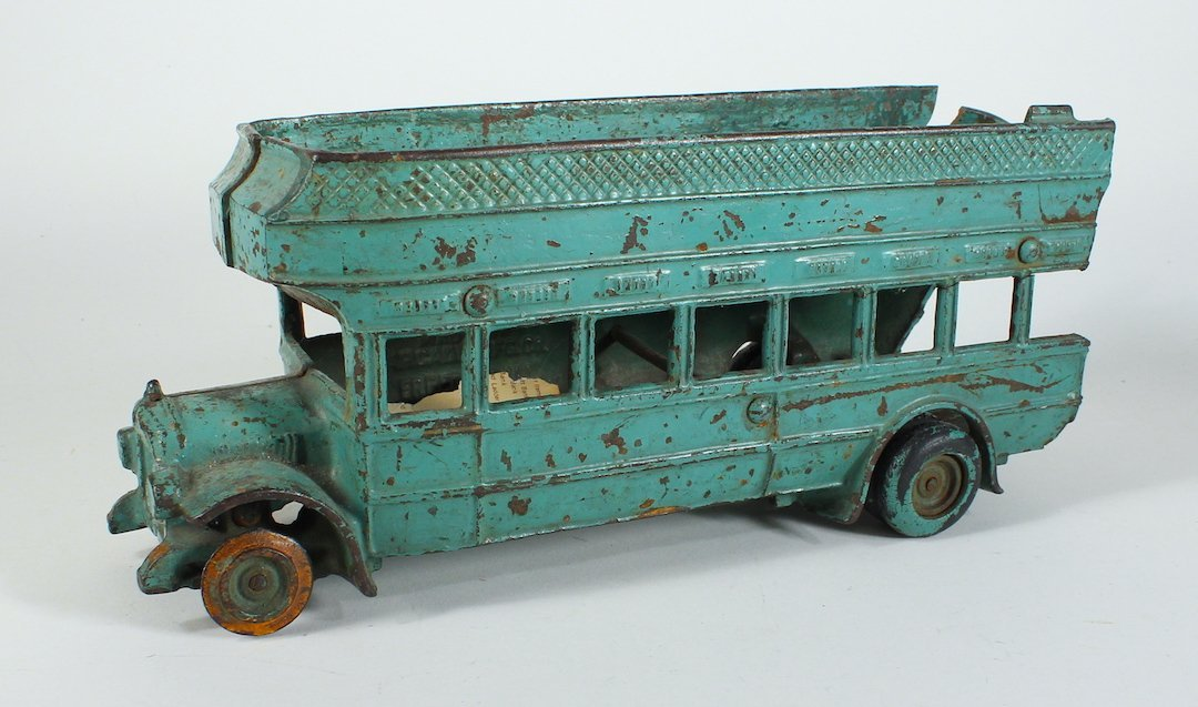1925 Arcade Cast Iron Double Decker Bus Damaged