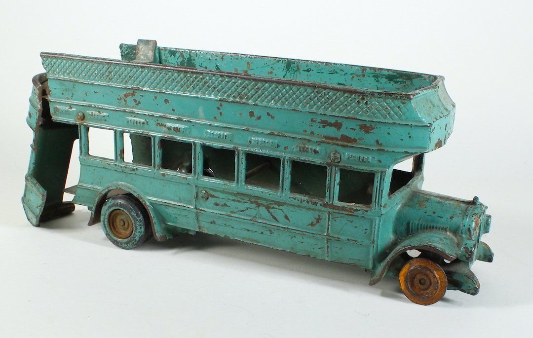 1925 Arcade Cast Iron Double Decker Bus Damaged - 2
