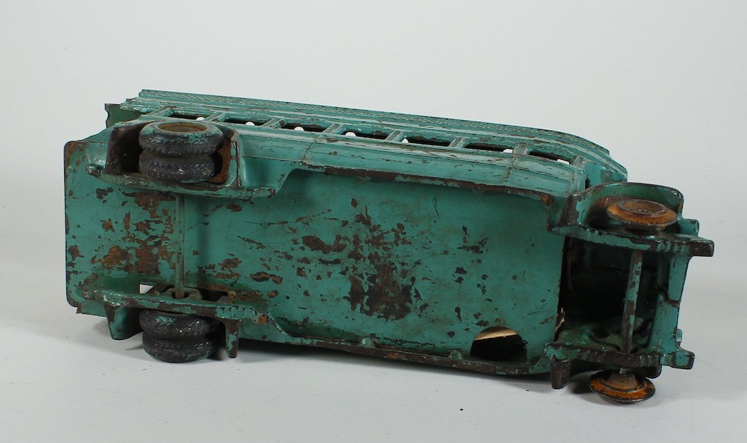 1925 Arcade Cast Iron Double Decker Bus Damaged - 4