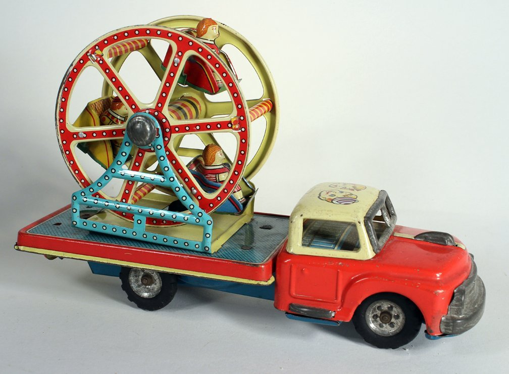 Japan Tin MT Ferris Wheel Truck Modern Toys