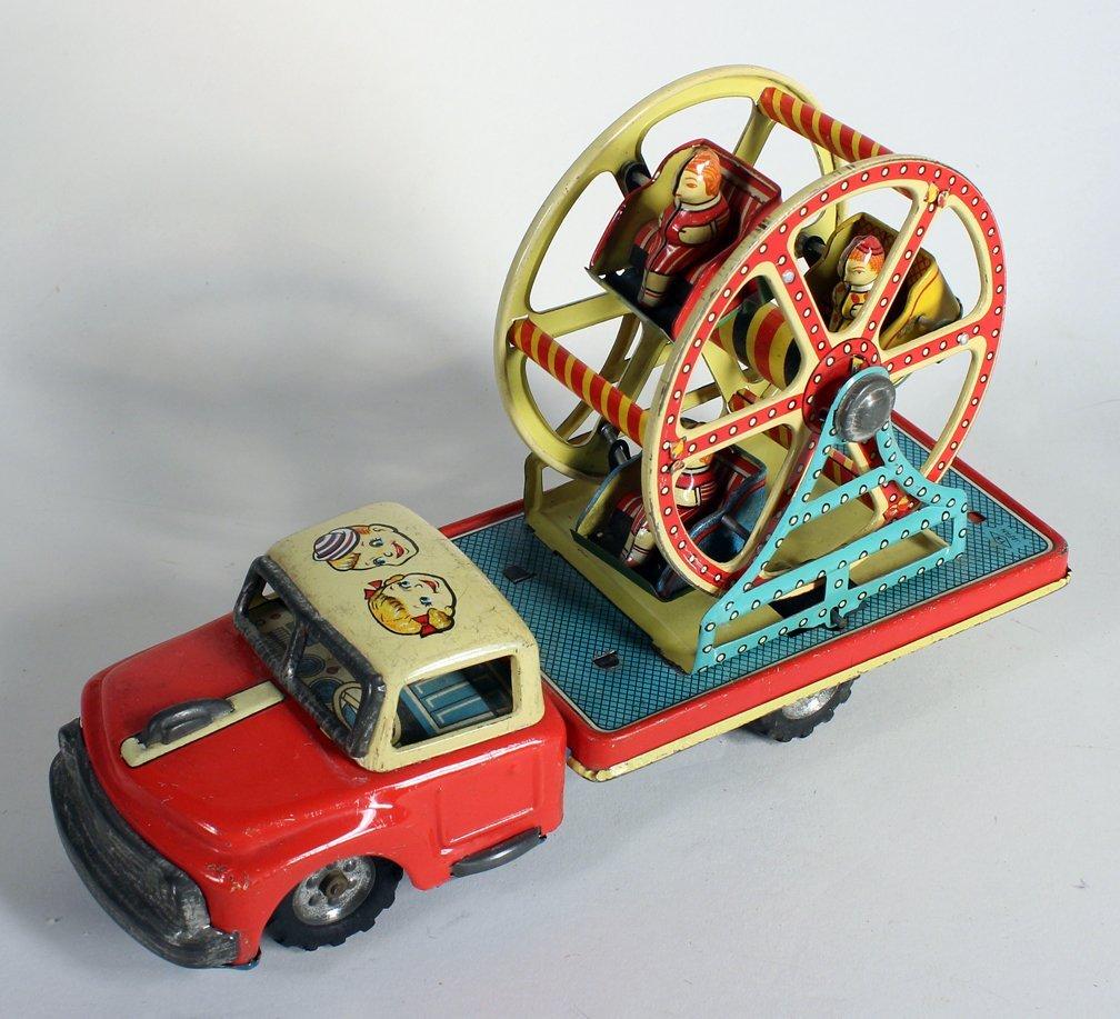 Japan Tin MT Ferris Wheel Truck Modern Toys - 3