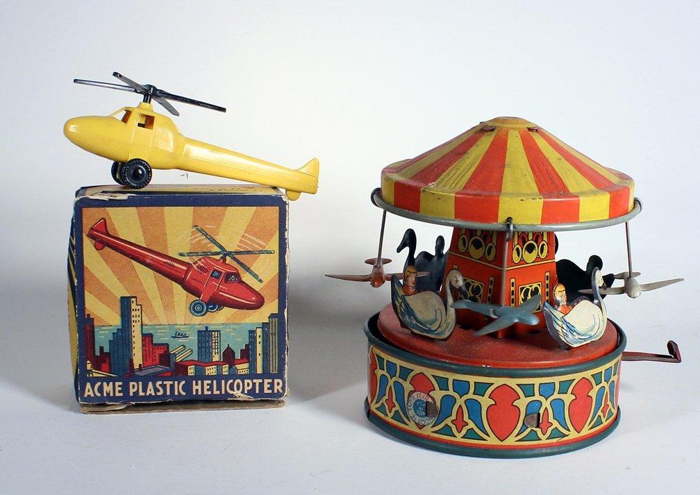 Wyandotte Tin Merry Go Round & Acme Helicopter