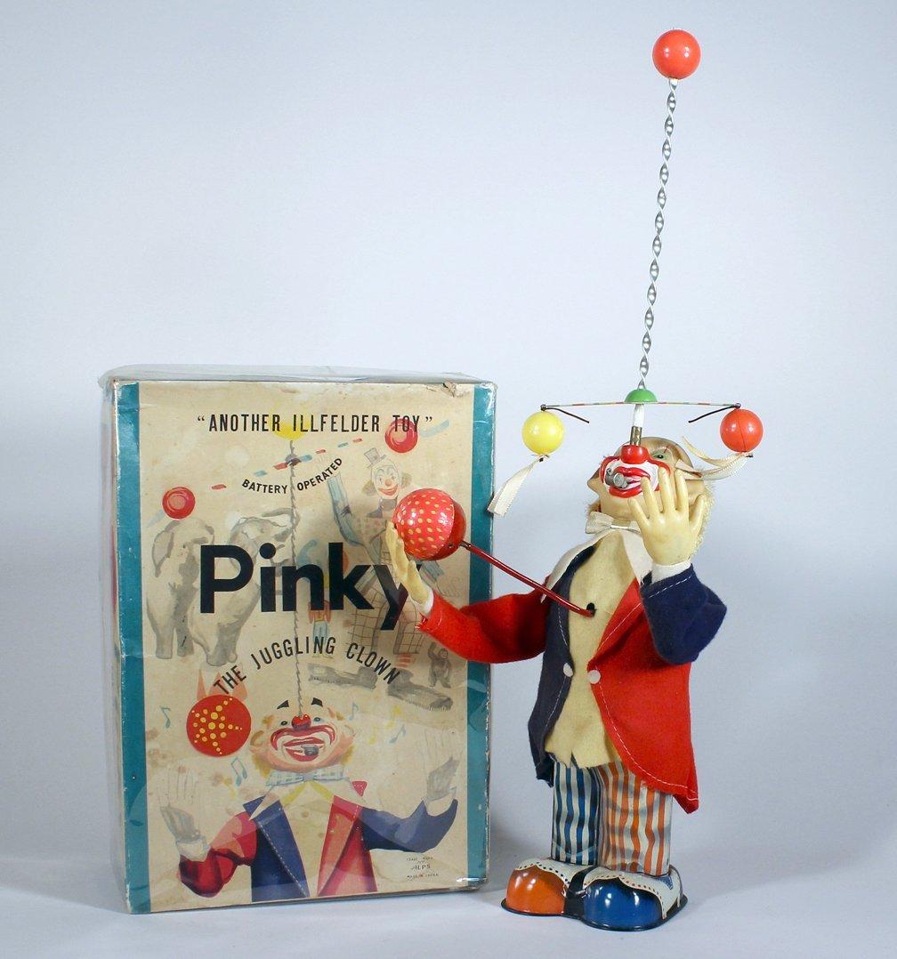 Alps Japan Pinky The Juggling Clown Battery Op In Box