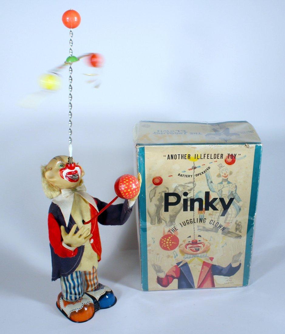 Alps Japan Pinky The Juggling Clown Battery Op In Box - 2