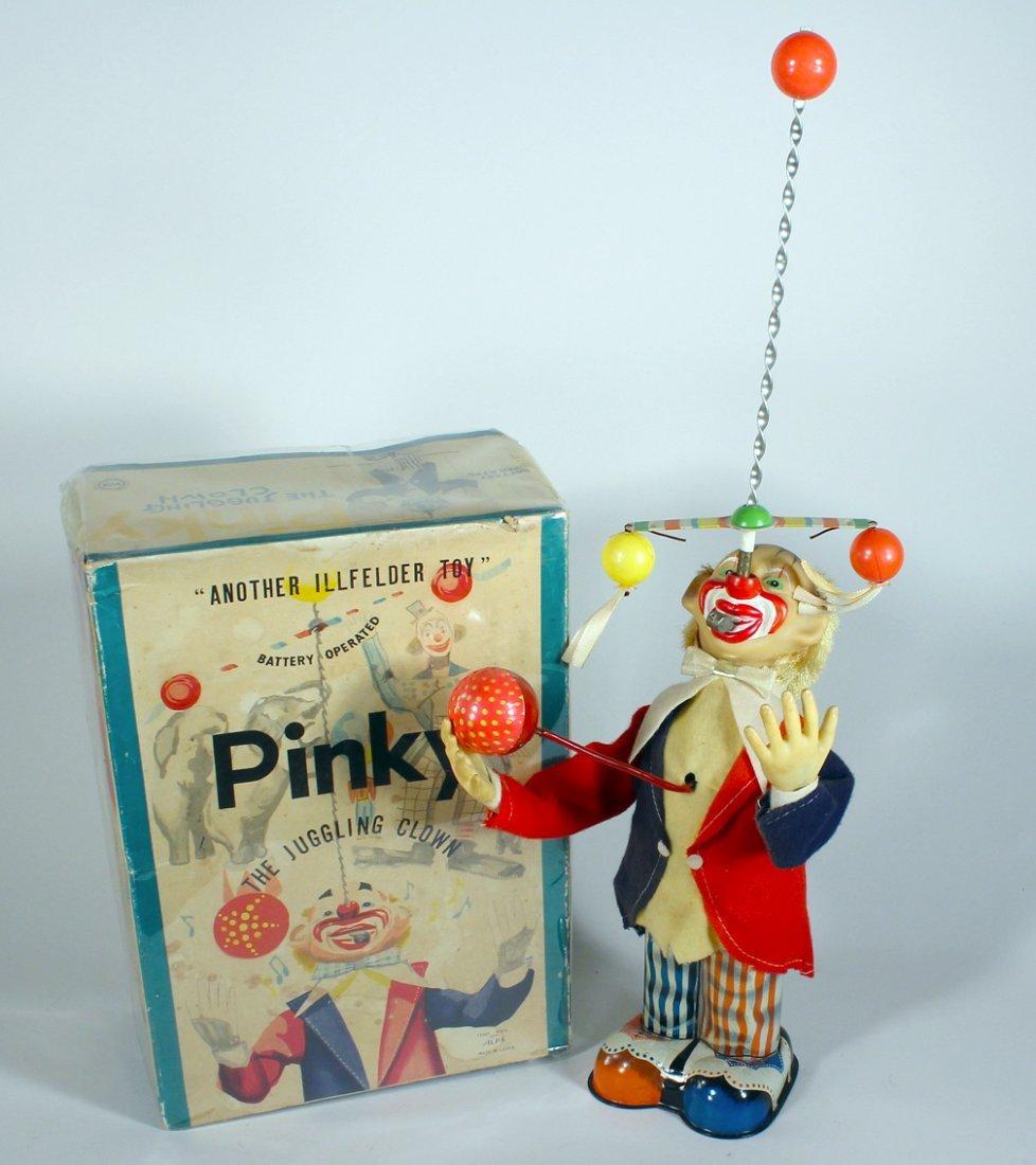 Alps Japan Pinky The Juggling Clown Battery Op In Box - 3