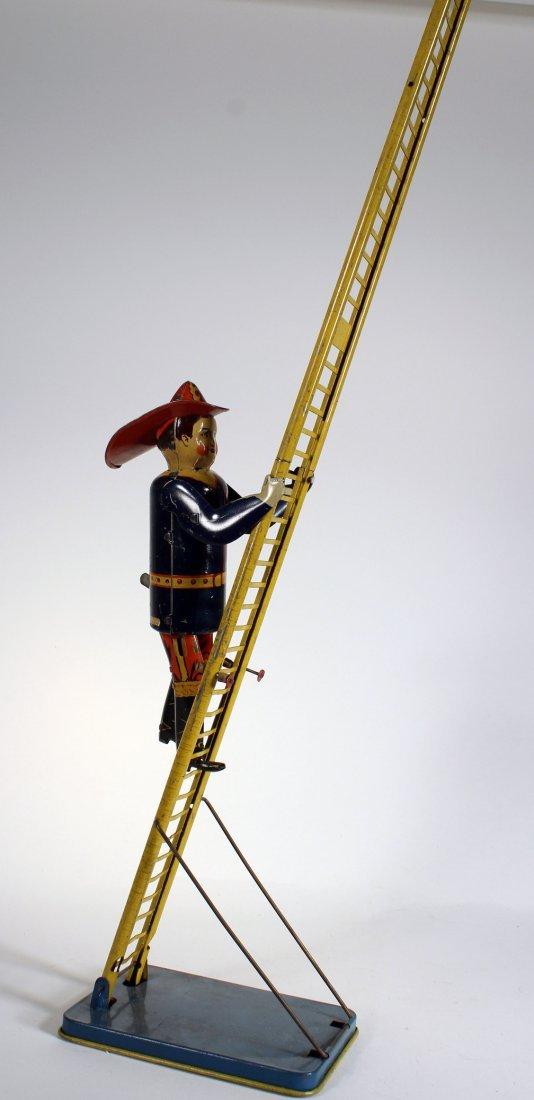 1930s Marx Climbing Fireman Wind Up - 2
