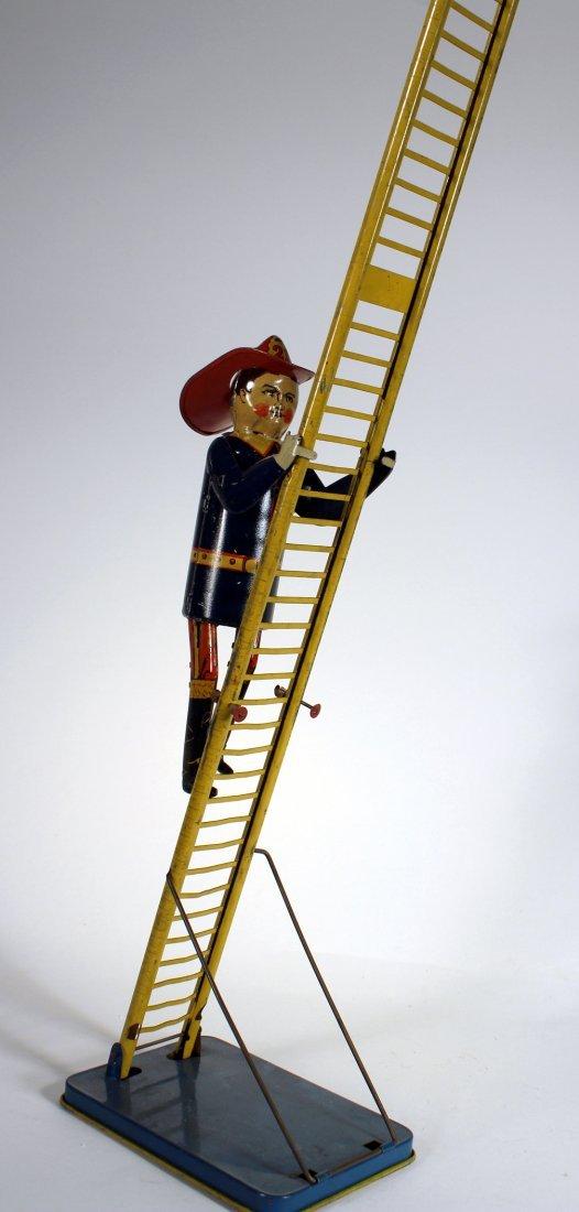 1930s Marx Climbing Fireman Wind Up - 3