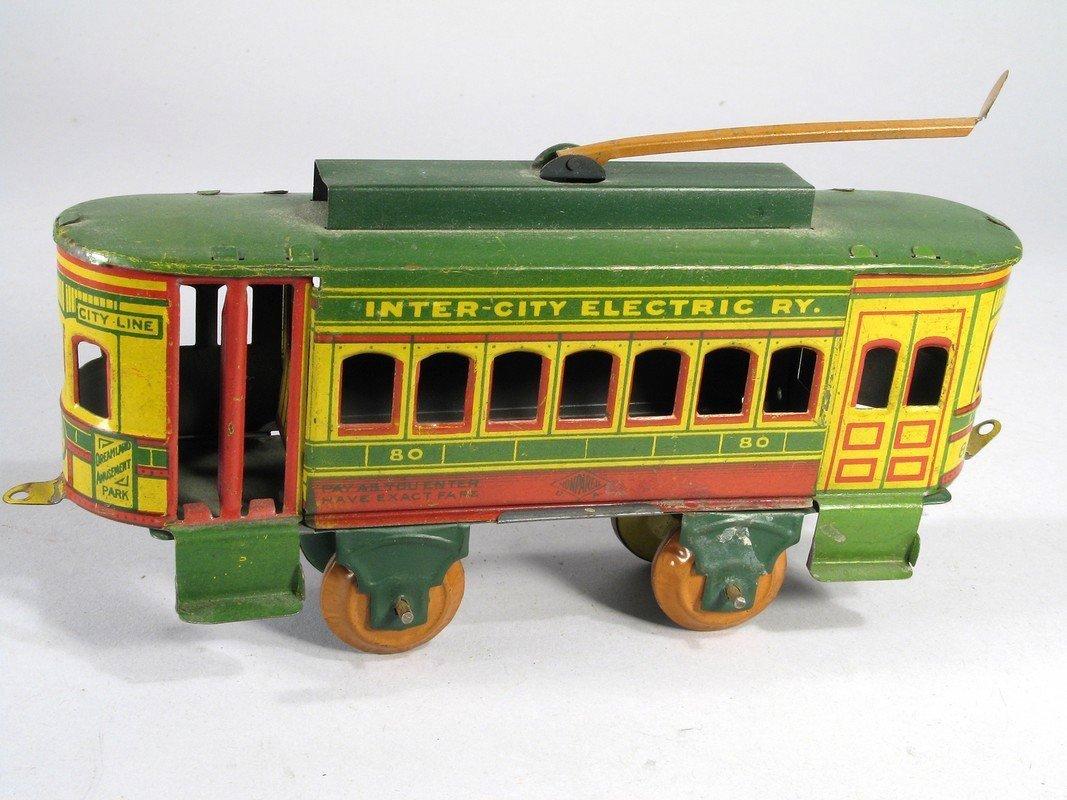 Nonpareil Tin Inter-City Electric Trolley