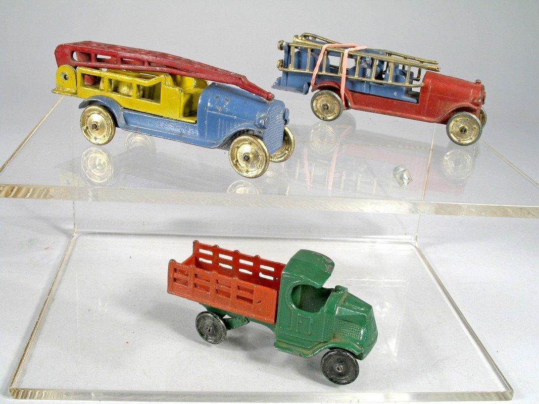 1920s Tootsietoy Fire Engine Trucks & Mack Truck