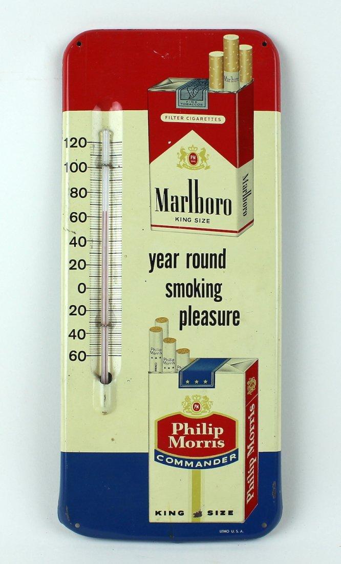 Marlboro & Philip Morris Cigarette Advert Thermometer