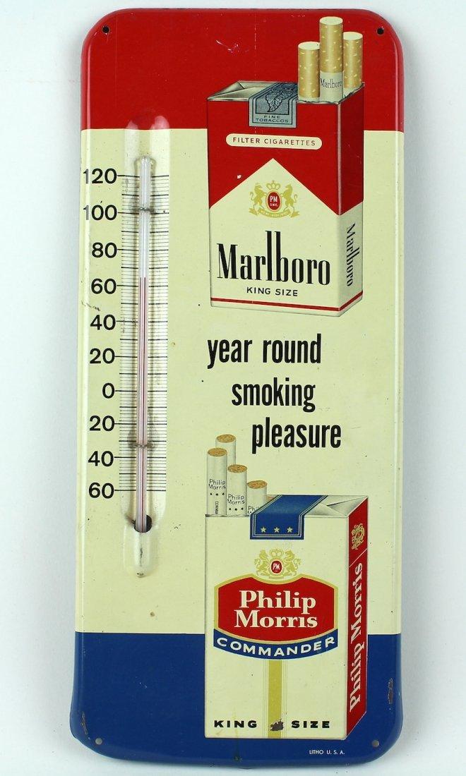 Marlboro & Philip Morris Cigarette Advert Thermometer - 2