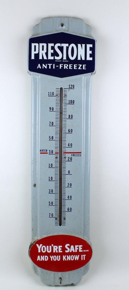Prestone Antifreeze Advertising Thermometer