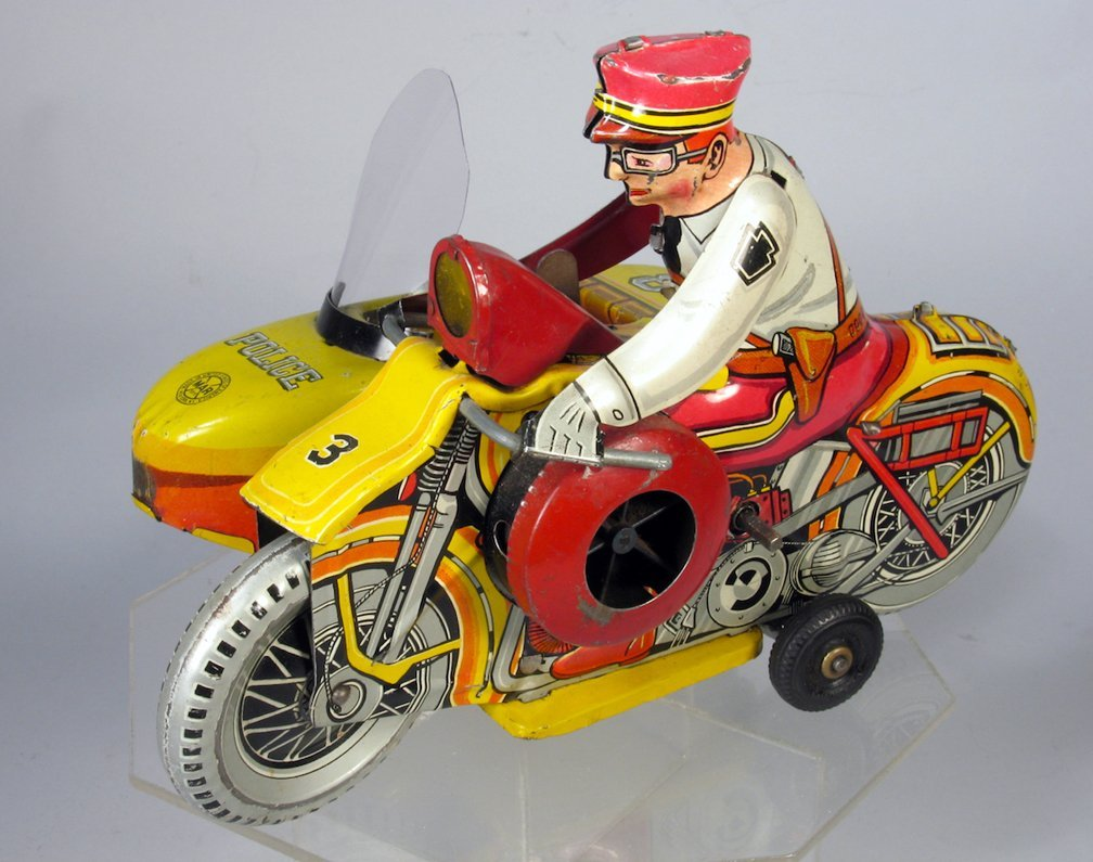 Marx Motorcycle Cop & Side Car Wind Up
