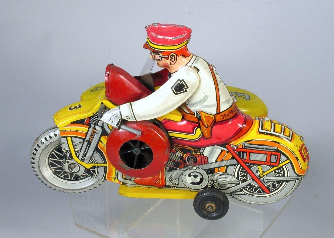 Marx Motorcycle Cop & Side Car Wind Up - 4