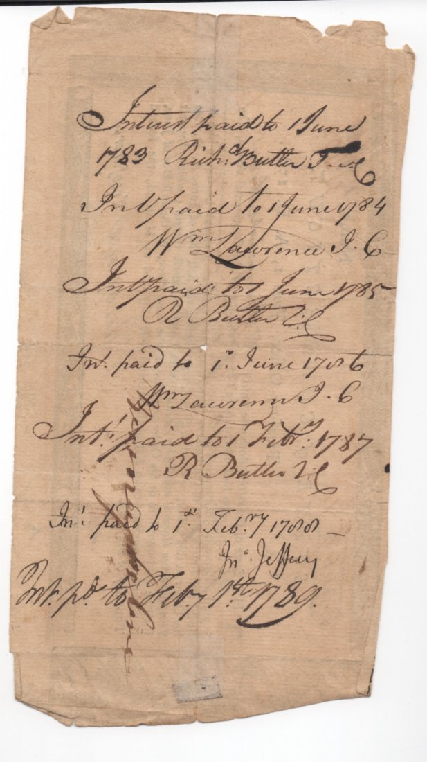 1782 State Of Connecticut Continental Army Pay Script - 3
