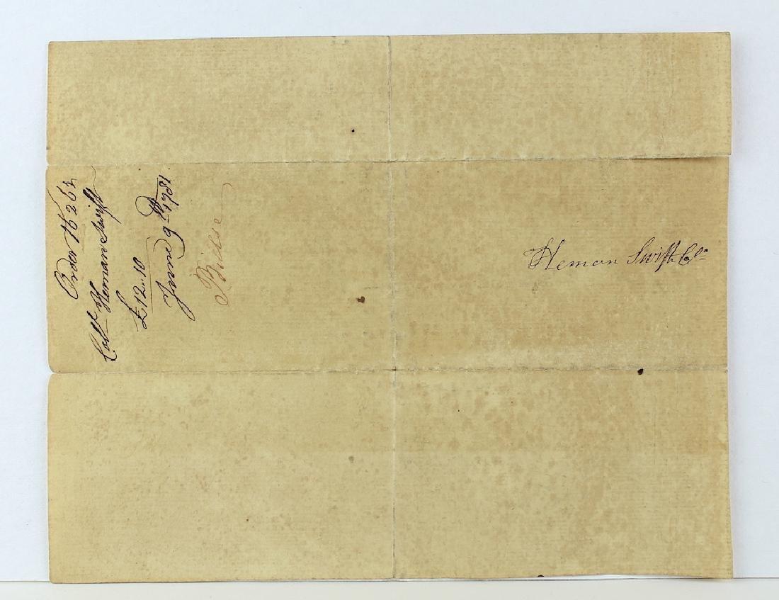 1781 Revolutionary War Payment Voucher Connecticut - 3