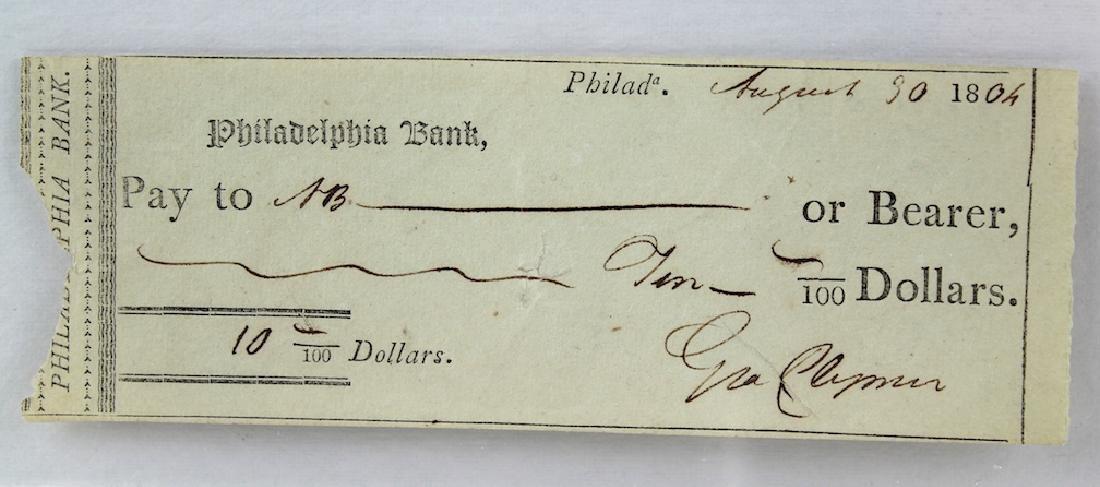 1804 George Clymer Declaration of Independence Signer