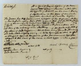 1778 Robert T. Paine Signed Document on Theft