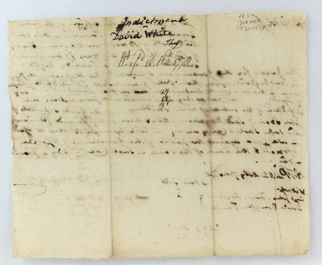 1778 Robert T. Paine Signed Document on Theft - 3