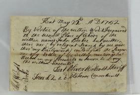 Oliver Wolcott Declaration Of Independence Signer