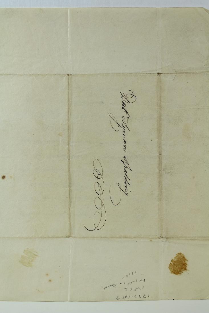1812 John Langdon Constitution Signer Signed Letter - 3