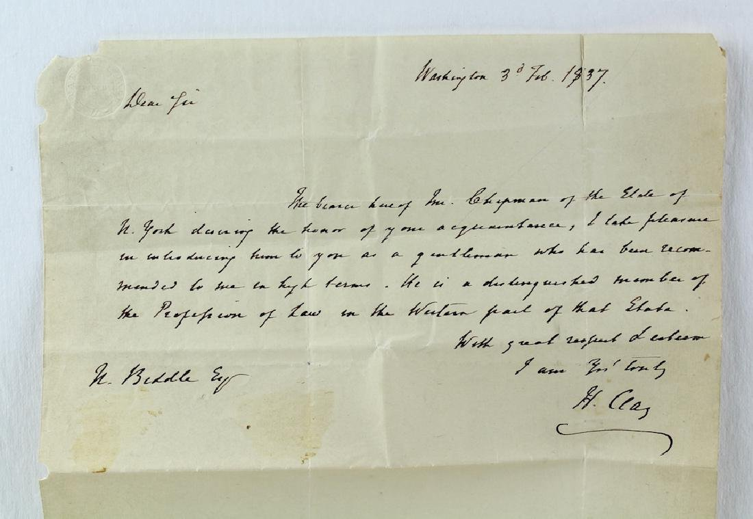 1837 Henry Clay Letter from Washington DC - 2