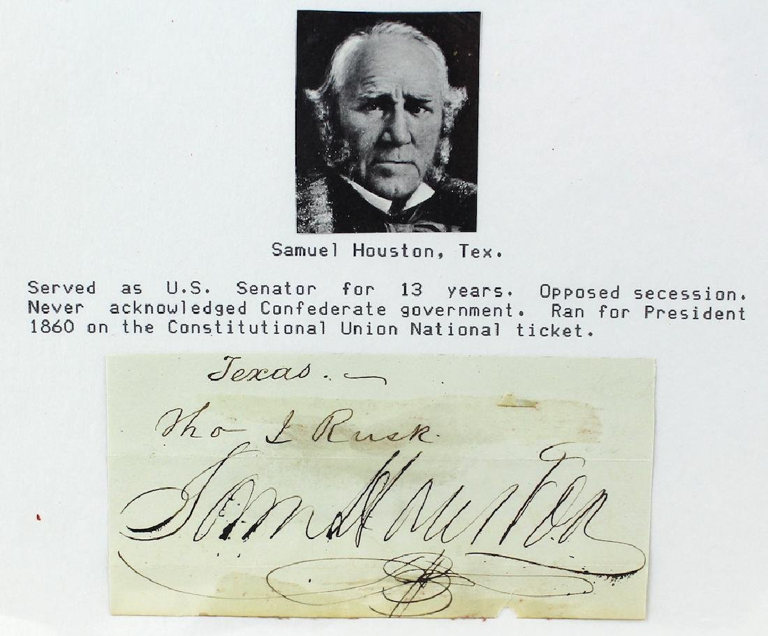 1860 Sam Houston Governor of Texas & Tennessee - 2
